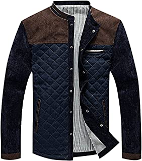DenimBlue Small CELINO Mens Trendy Padded Hooded Jacket Fitted Zipped Light Weight Thick Puffer