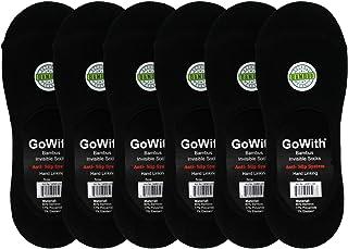GoWith 6'lı Bambu Dikişsiz Sağlıklı Görünmez Kaymaz Silikonlu Erkek/Kadın Babet Çorap 3101