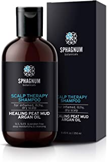 Natural Itchy Scalp Treatment Shampoo - Sulfate Free - Peat Mud Therapy Is Best For Alleviating Psoriasis & Eczema. Argan Oil Has Antioxidants That Help To Fight Dandruff.