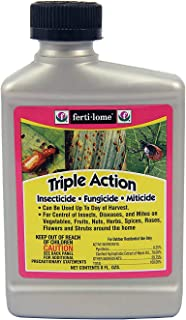 Fertilome Triple Action: Insecticide, Fungicide and Miticide - 1/2 Pint