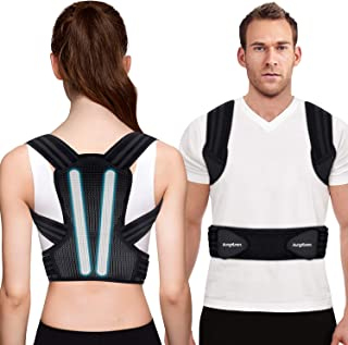Posture Corrector for Men, Women and Kids, Kungfuren Premium Adjustable Back Brace with 2 Removable Rails for Improve Posture and Provide Lumbar Support, Suitable for Waistline 31.5