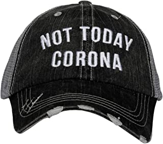KATYDID قبعة بيسبول كورونا - قبعة سائق الشاحنة للنساء - قبعة بيسبول أنيقة لطيفة رمادية