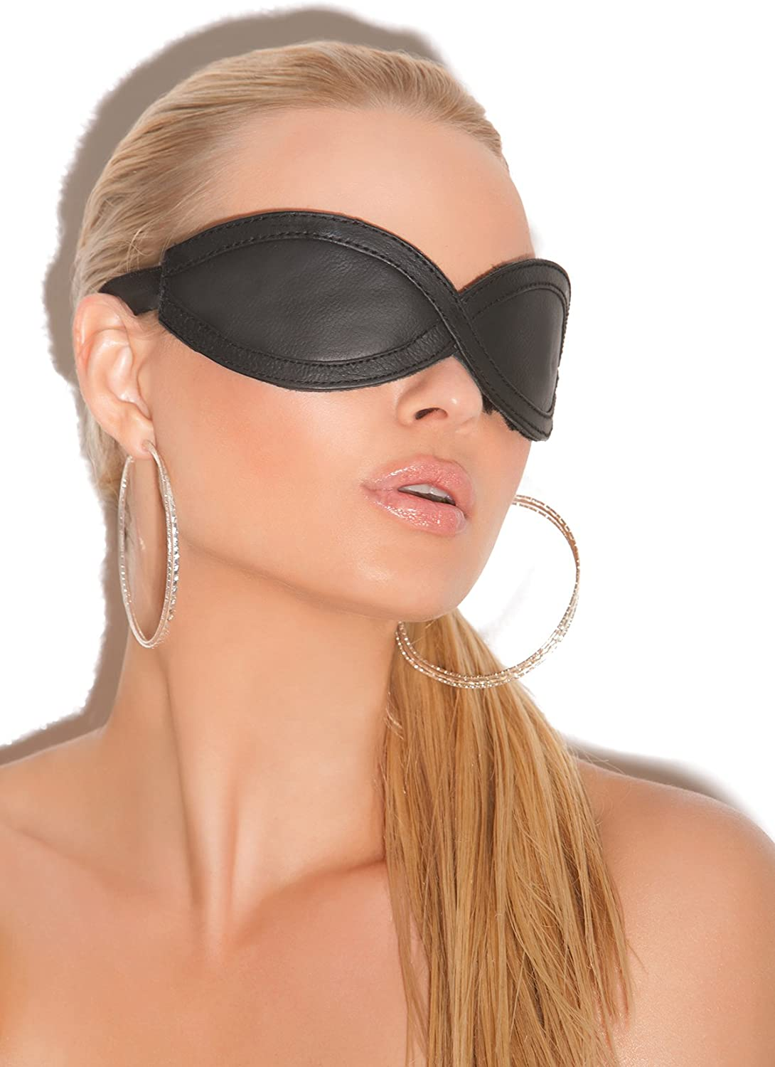 Leather Blindfold Mask Adult Play Black Accessory Spasm price Max 68% OFF Role