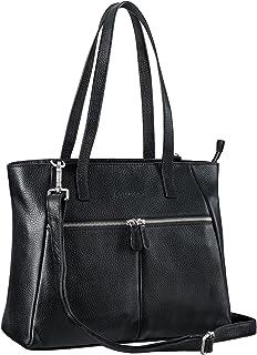 STILORD 'Madeleine' Große Umhängetasche Damen Leder Vintage Schultertasche Elegante Businesstasche für 13,3 Zoll Laptops L...