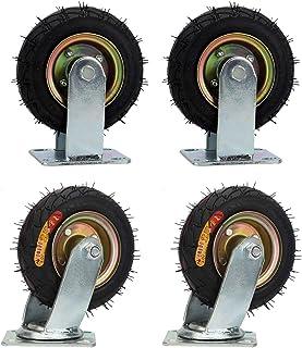 YJJT Zwenkwielen, Rubber Heavy Duty wielen, Geschikt voor Logistiek transport, Flatbed Trucks, Elektrische apparaten, Mach...