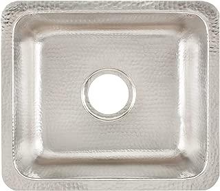 Signature Copper BDC-171508BRN Prato Drop In / Undermount Handcrafted Kitchen Ha, Hammered Nickel