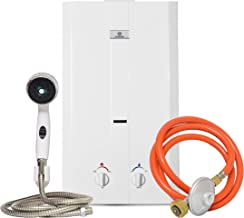 Eccotemp CEL-10 Portable Outdoor Tankless Water Heater w/ Shower Set, 37 mbar