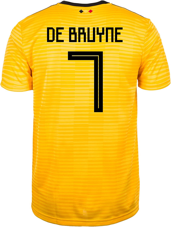 Adidas DE BRUYNE  7 Belgium Official Men's Away Soccer Jersey World Cup Russia 2018