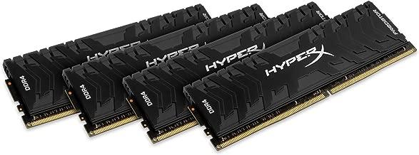 Kingston Technology HyperX Predator Black 64GB Kit 3000MHz DDR4 CL15 DIMM XMP Desktop Memory HX430C15PB3K4/64