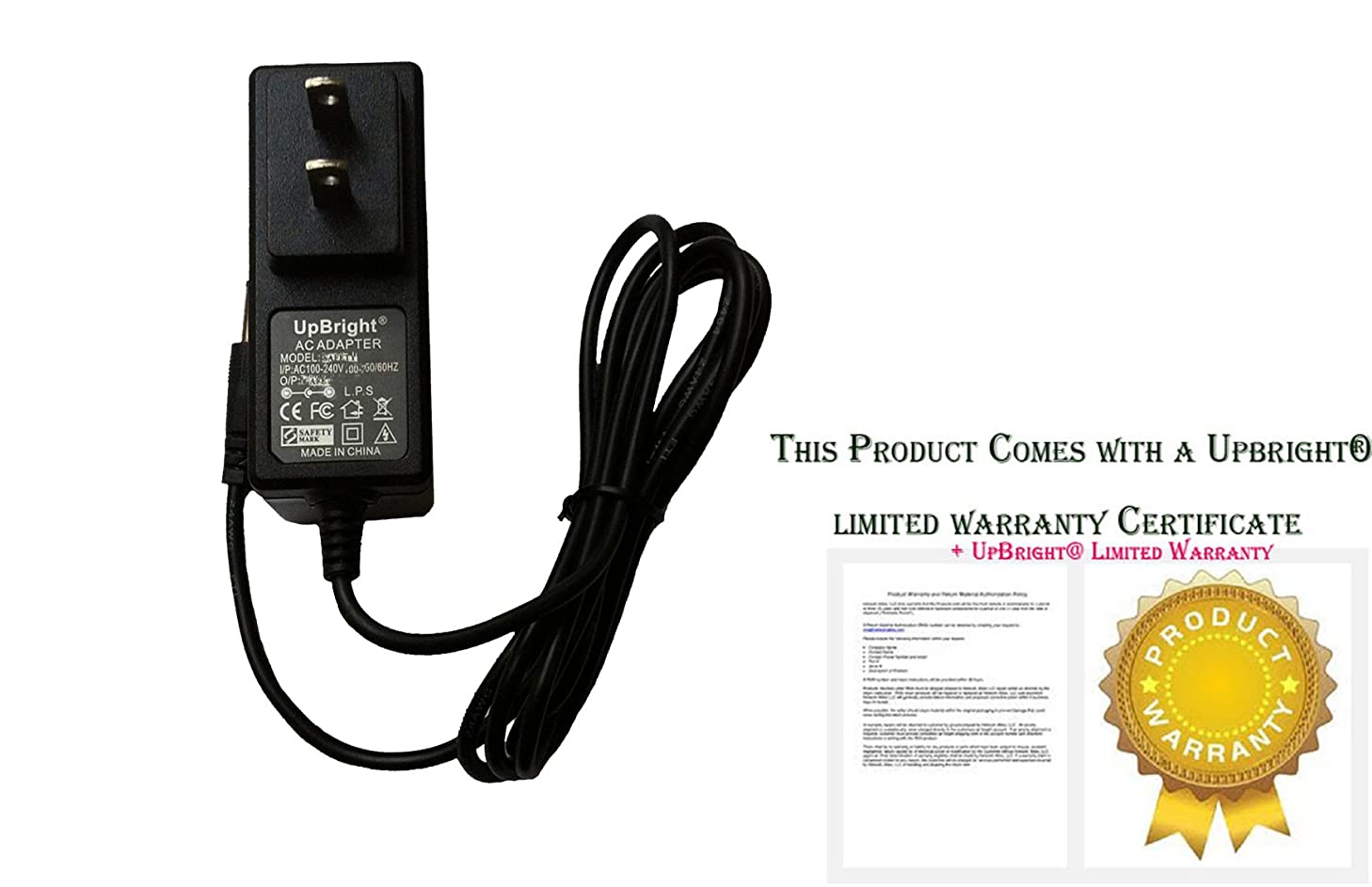 UpBright NEW Global AC / DC Adapter For SainSonic SS-630 AV Wireless Audio Video Transmitter & Receiver Power Supply Cord Cable PS Wall Home Charger Input: 100 - 240 VAC 50/60Hz Worldwide Voltage Use Mains PSU