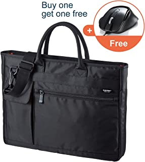 SANWA (Japan Brand 15.6 inch Laptop and Tablet Bag- Expandable Business Bag, Lightweight, Hand/Shoulder Type, for MacBook Dell Hp Acer Asus Lenovo iPad, Messenger Briefcases, Men and Women, Black