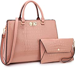 Dasein Women Handbags Satchel Purses Shoulder Bag Top Handle Work Tote for Lady with Matching Wallet 2pcs Set