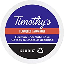 Timothy's World Coffee German Chocolate Cake K-cup for Keurig Brewers, 96 Count