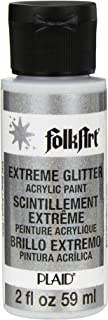 FolkArt Extreme Glitter Acrylic Paint in Assorted Colors (2 oz), 2787, Silver