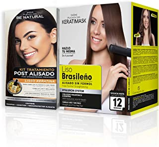 Pack Be Natural Alisado Brasileño Keratimask + Post Alisado Liso Keratina.