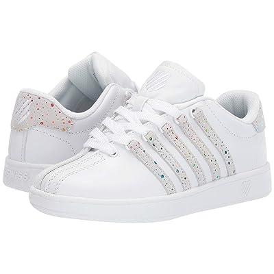 K-Swiss Classic VN (Big Kid) (White/Rainbow) Athletic Shoes