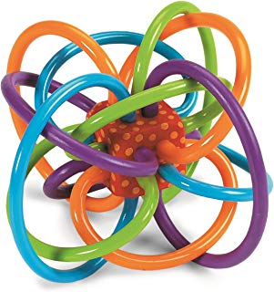 Manhattan Toy Winkel Rattle and Sensory Teether Toy (Renewed)
