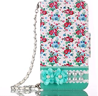Phone Wallet Case Compatible with Samsung Galaxy S9plus /s9+ Pretty Flip Leather Bag Purse Protective Stand Cover with Strap (Green 2)