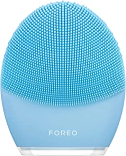 FOREO LUNA 3 Smart Sonic Personalized Silicone Facial Cleansing Brush and Anti-Aging Facial Waterproof Massager