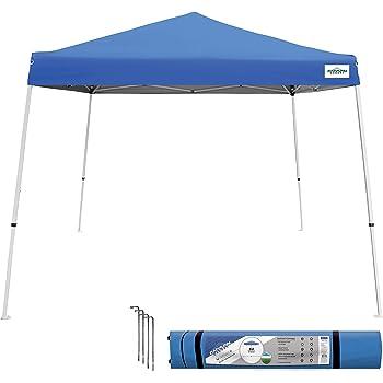 Caravan Canopy Sports 21007800020, 10'x10' Base 8'x8' top, Blue