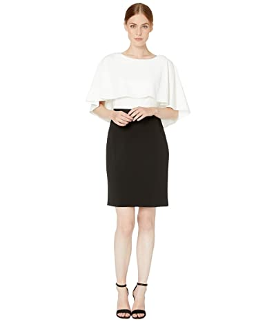 Calvin Klein Color Block Popover Dress (Cream/Black) Women