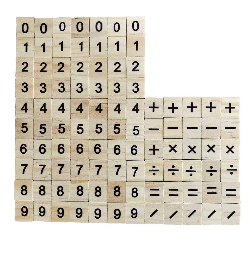 Números de Madera Azulejos de Scrabble Números Juguete Educativo para niños 100 Paquete para Juegos de Mesa Marco de Boda Arte de Pared Reemplazo Artesanía Joyería Scrapbooking: Amazon.es: Juguetes y juegos