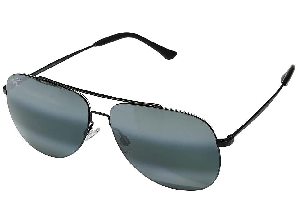 Maui Jim Cinder Cone (Matte Black/Neutral Grey) Athletic Performance Sport Sunglasses