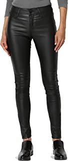 TheMogan Faux Leather Zip Ankle Skinny Pants Biker Liquid Wet Shiny Look Trouser