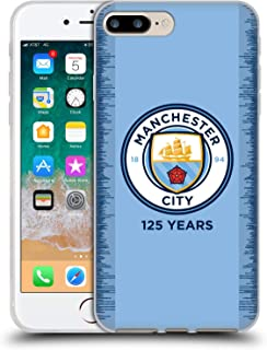 Official Manchester City Man City FC 2018/19 Kit 125 Year Anniversary Soft Gel Case Compatible for iPhone 7 Plus/iPhone 8 Plus
