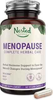 Menopause Complete Herbal Care Supplement for Women | 60 Vegan Capsules | Natural Black Cohosh Extract & Dong Quai Root | ...