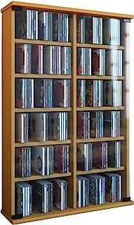 VCM Roma - Torre para CDDVD para 300 CDs color Haya dimensiones 92x60x18 cm