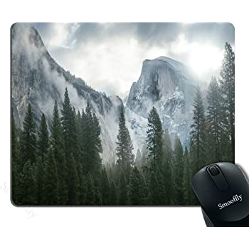 Llsty Mouse Pad for Home and Office Snow Maroon Bells Autumn Mountain Pine Forest Elk Lake Leaf Spruce 9.7x7.9 Non-Slip Rubber Thickness for Computer Desktop Pcs Laptop