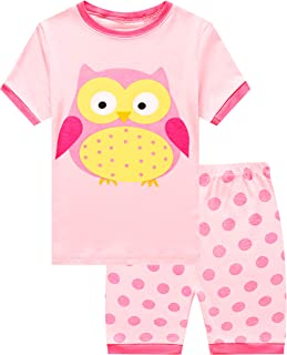لباس خواب کوتاه زرافه دختران کوچک لباس خواب 100٪ پنبه