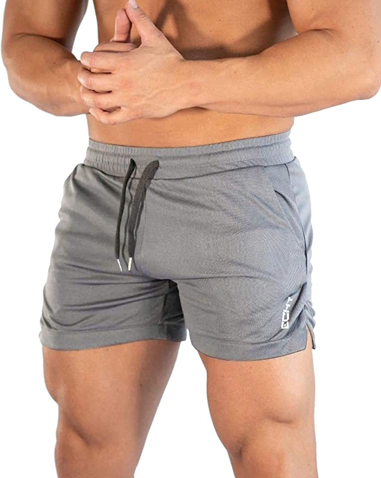 Mens Running Gym 2 in 1 Sport Shorts Breathable Outdoor Workout Training Shorts with Pockets