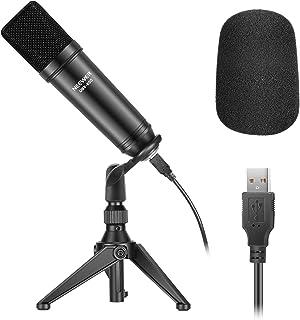 Neewer USB200 Kit Micrófono USB 192KHz/24Bit Micrófono Condensador Podcast Cardioide Plug y Play con Chip Sonido Profesion...