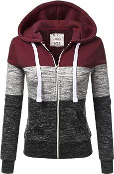 Doublju Lightweight Thin Zip-Up Hoodie Women's Jacket