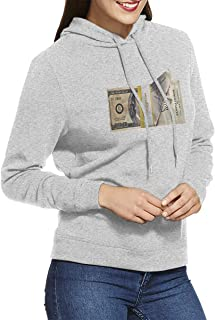 Hoodies for Women Classic Baseball Hoodies with Dreams Worth More Than Money Pattern