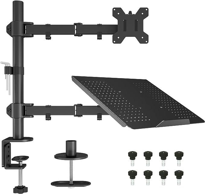 367 opinioni per BONTEC Supporto Monitor Braccio con Vassoio per Laptop per Schermo LED LCD da 13