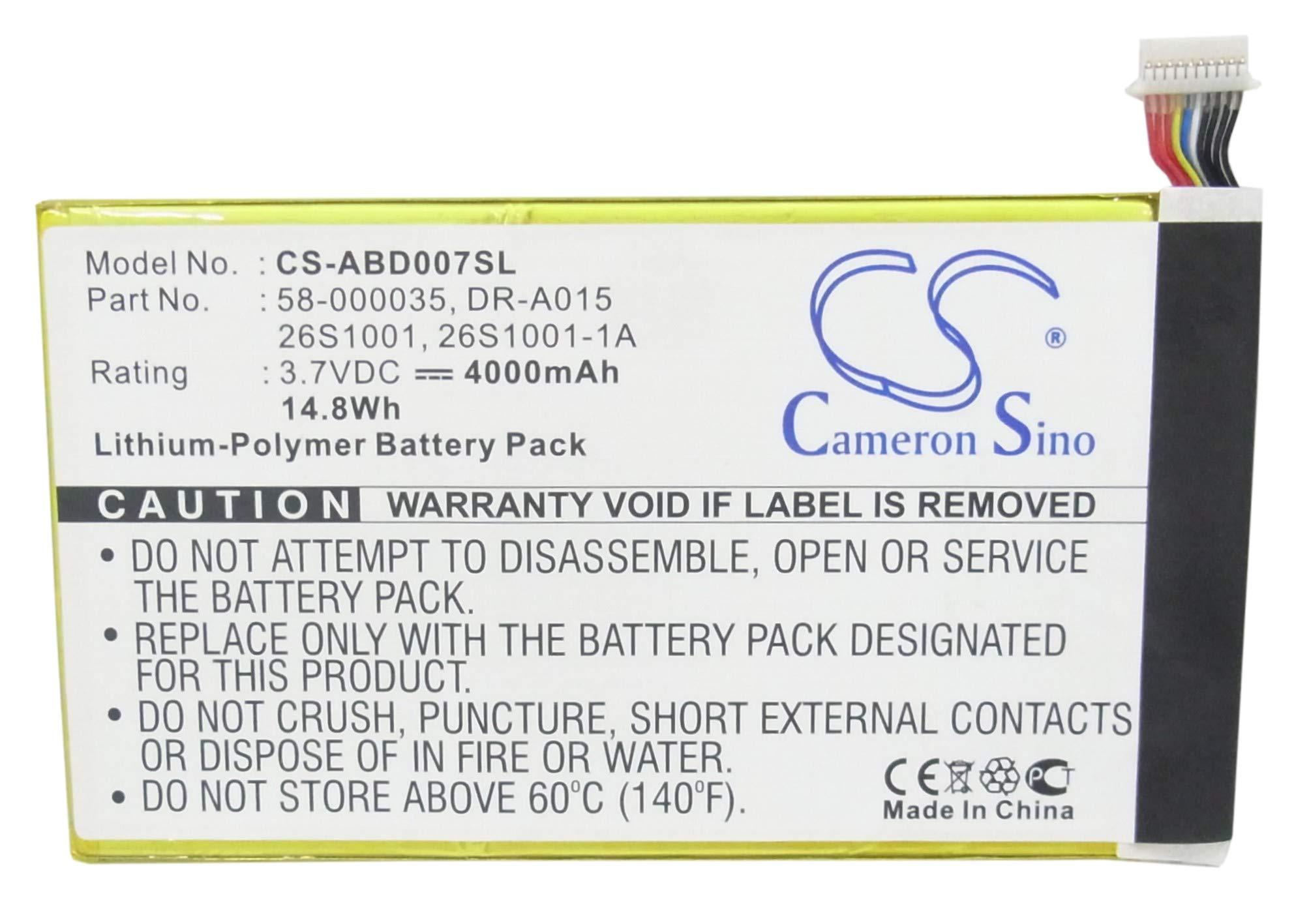 Bateria Para 26S1001 26S1001-1A 58-000035 DR-A015 26S1001-1D