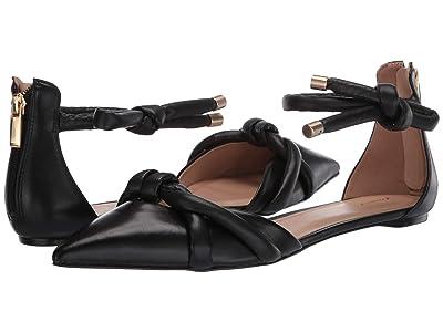 Massimo Matteo Tube Bow Flat (Black) Women