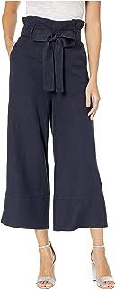 Blank NYC Women's Linen Belted Pants in Navy