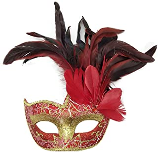 red feather masquerade masks