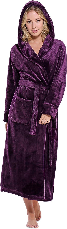 Women's Plush Soft サービス Warm Fleece Womens Comfy Bathrobe ストア Robe