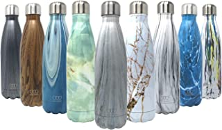 17oz Stainless Steel Vacuum Insulated Water Bottle | Leak-Proof Double Walled Cola Shape Bottle | Keeps Drinks Cold for 24 Hours & Hot for 10 Hours (Pattern: Wonder Winterland)