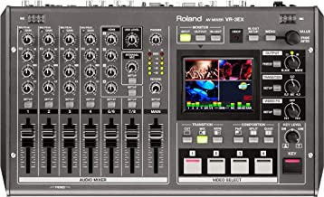"""Roland VR-3EX All-in-one AV Mixer with Built-in USB Port for Web Streaming and Recording, 2.5"""" Multiview Touchscreen Monitor, Standard Definition 16:9 Mixing Engine, Scalers on Channel 4 and Output"""