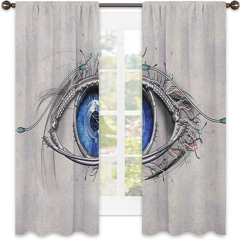 Eye Bedroom Rod Pocket Blackout Mech a Style famous Curtain overseas Futuristic
