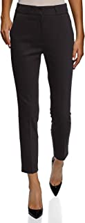 oodji Collection Women's Slim-Fit Pleated Trousers
