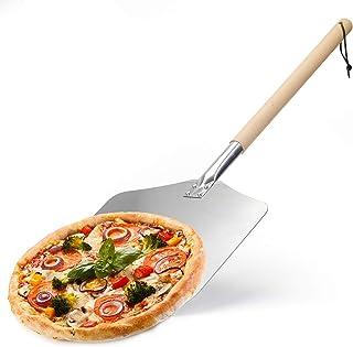 Pelle à Pizza en Aluminium,Pelle à Pizza avec Four À Pizza à Long Manche en Bois Antidérapant,Utilisé comme Pelle à Four E...