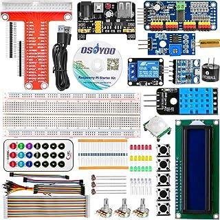 OSOYOO(オソヨー) オープンソース 初心者スターターキット for Raspberry Pi 3 2 Model B 電子工作キット (改良版)