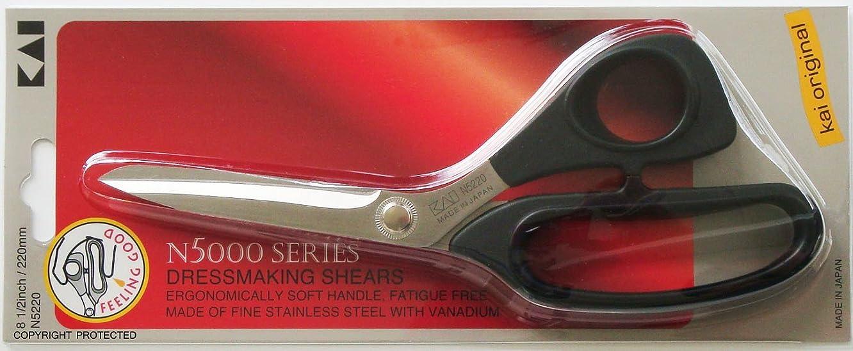 Kai 5220 8 1/2 Inch Black Handle Scissors